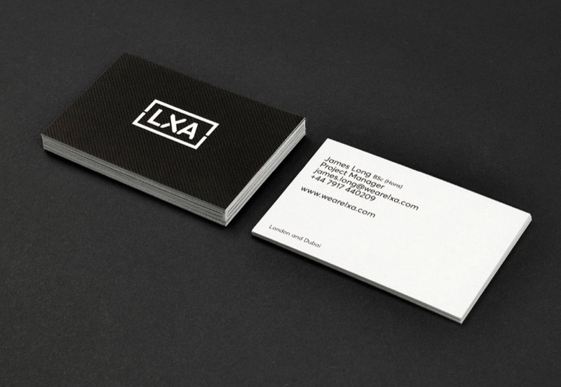 lxa branding and stationery design by Leeds based Freelance Designer Neil Holroyd
