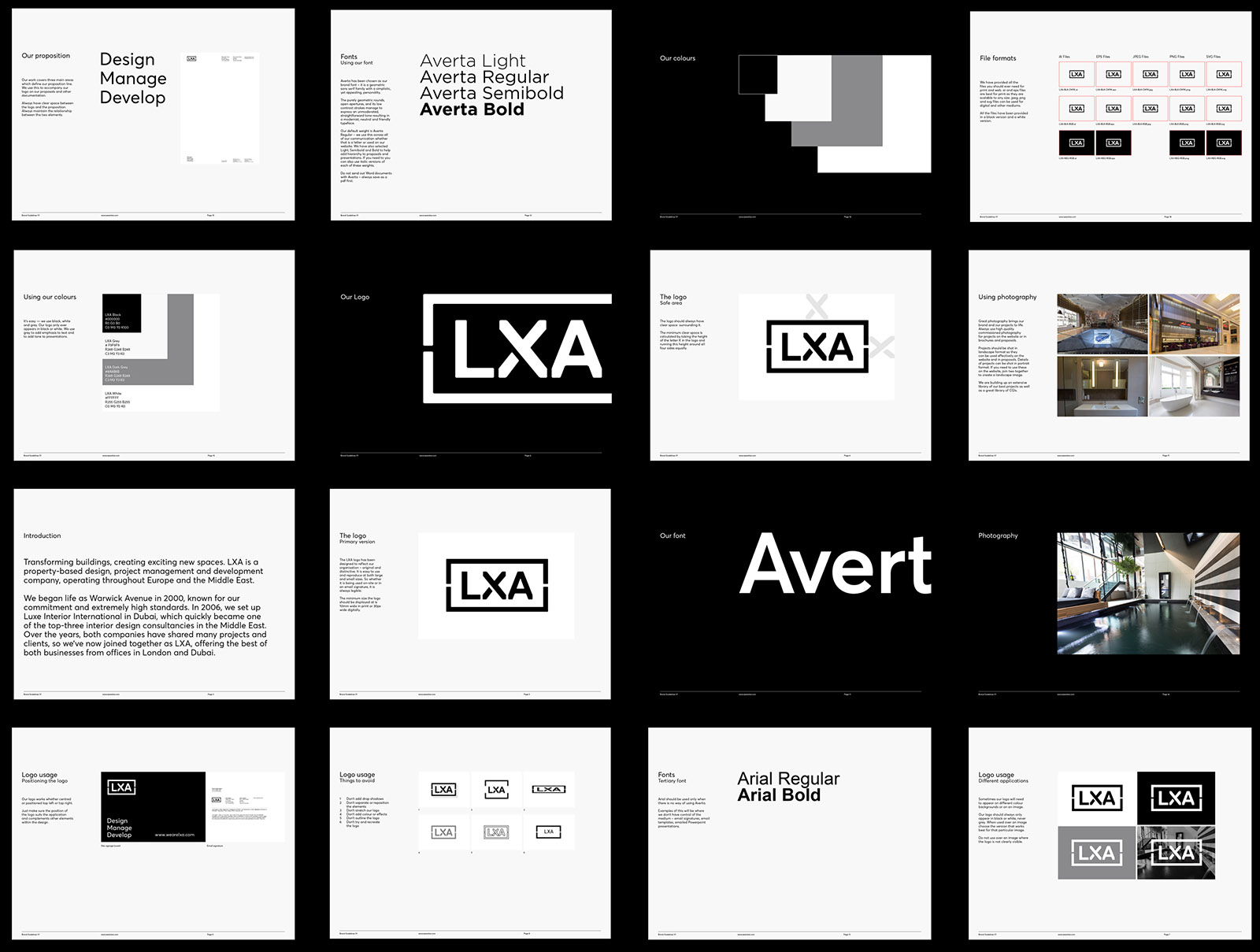 lxa brand guidelines design by Leeds based Freelance Designer Neil Holroyd