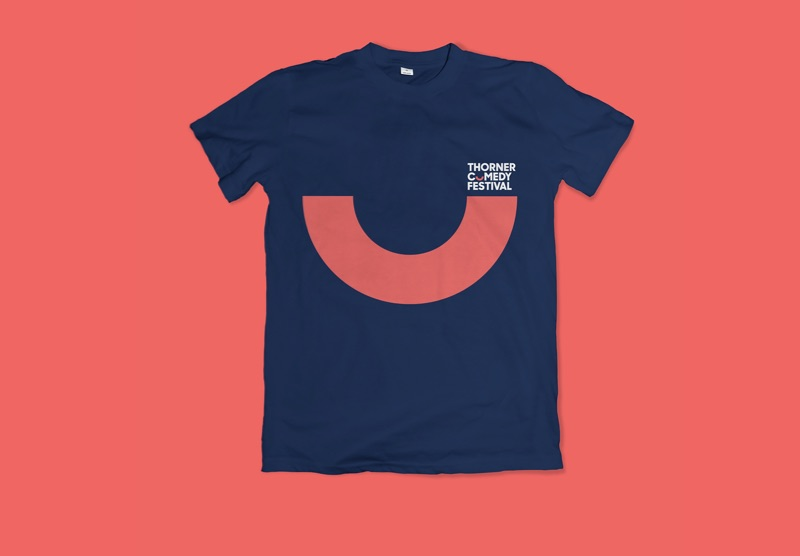 thorner comedy festival branding design by Leeds based Freelance Designer Neil Holroyd