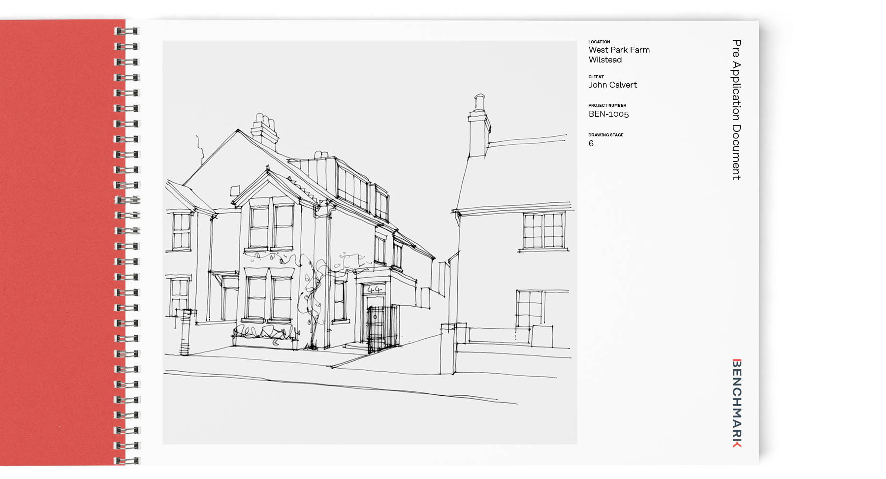 benchmark architects branding design by Leeds based Freelance Designer Neil Holroyd