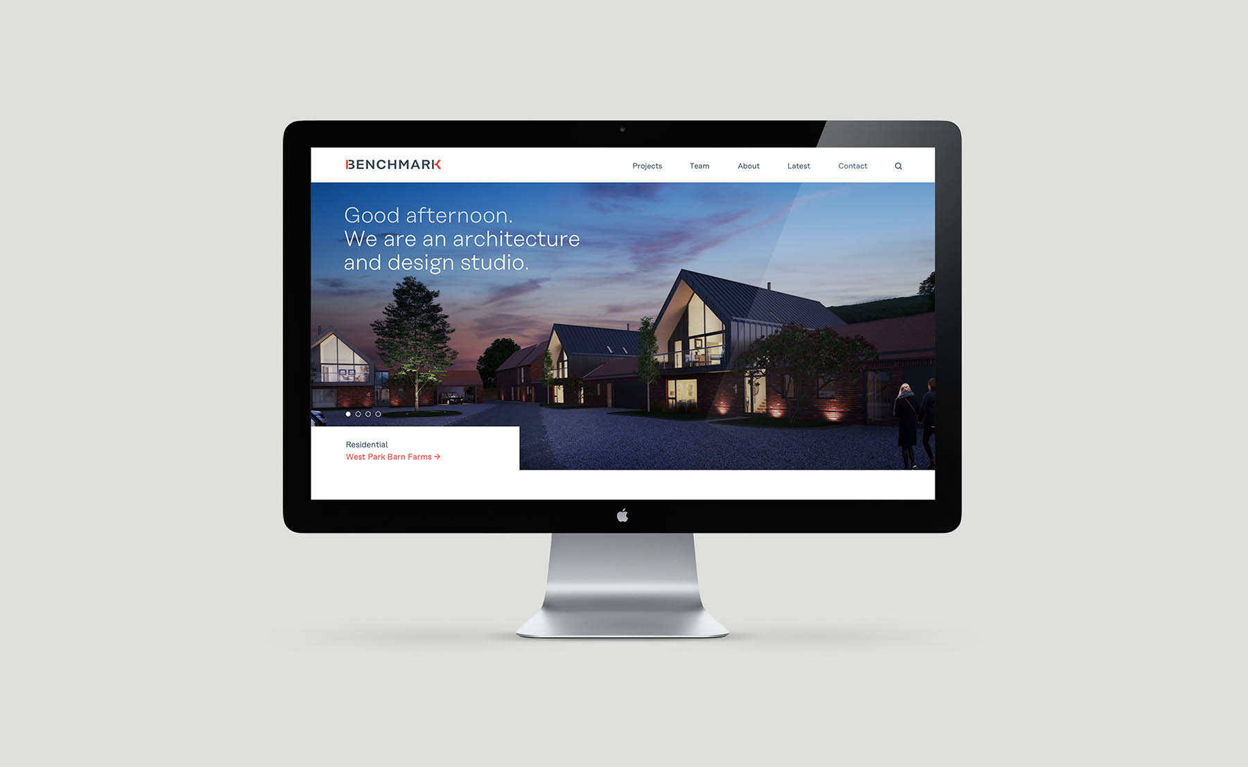benchmark architects website design by Leeds based Freelance Designer Neil Holroyd