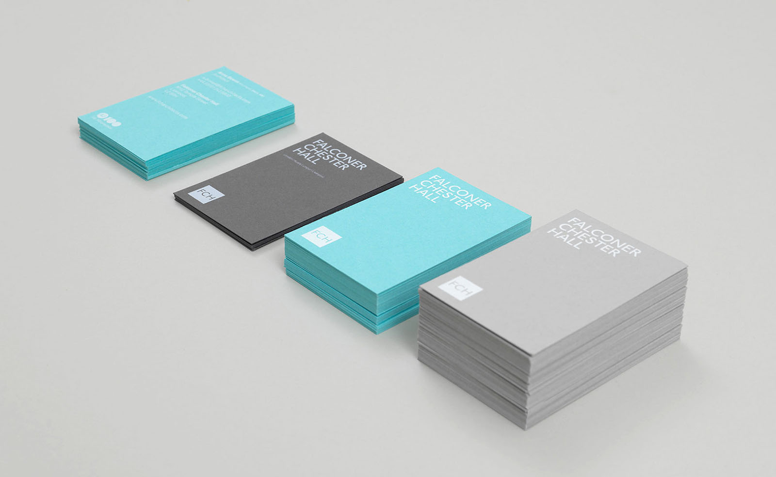 falconer chester hall business cards design by Leeds based Freelance Designer Neil Holroyd