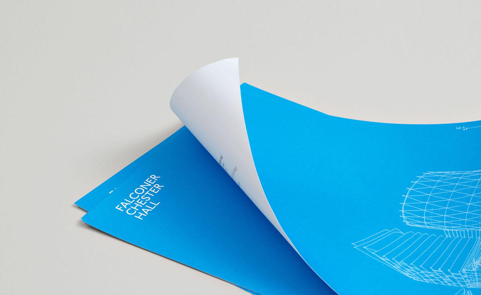 falconer chester hall stationery design by Leeds based Freelance Designer Neil Holroyd