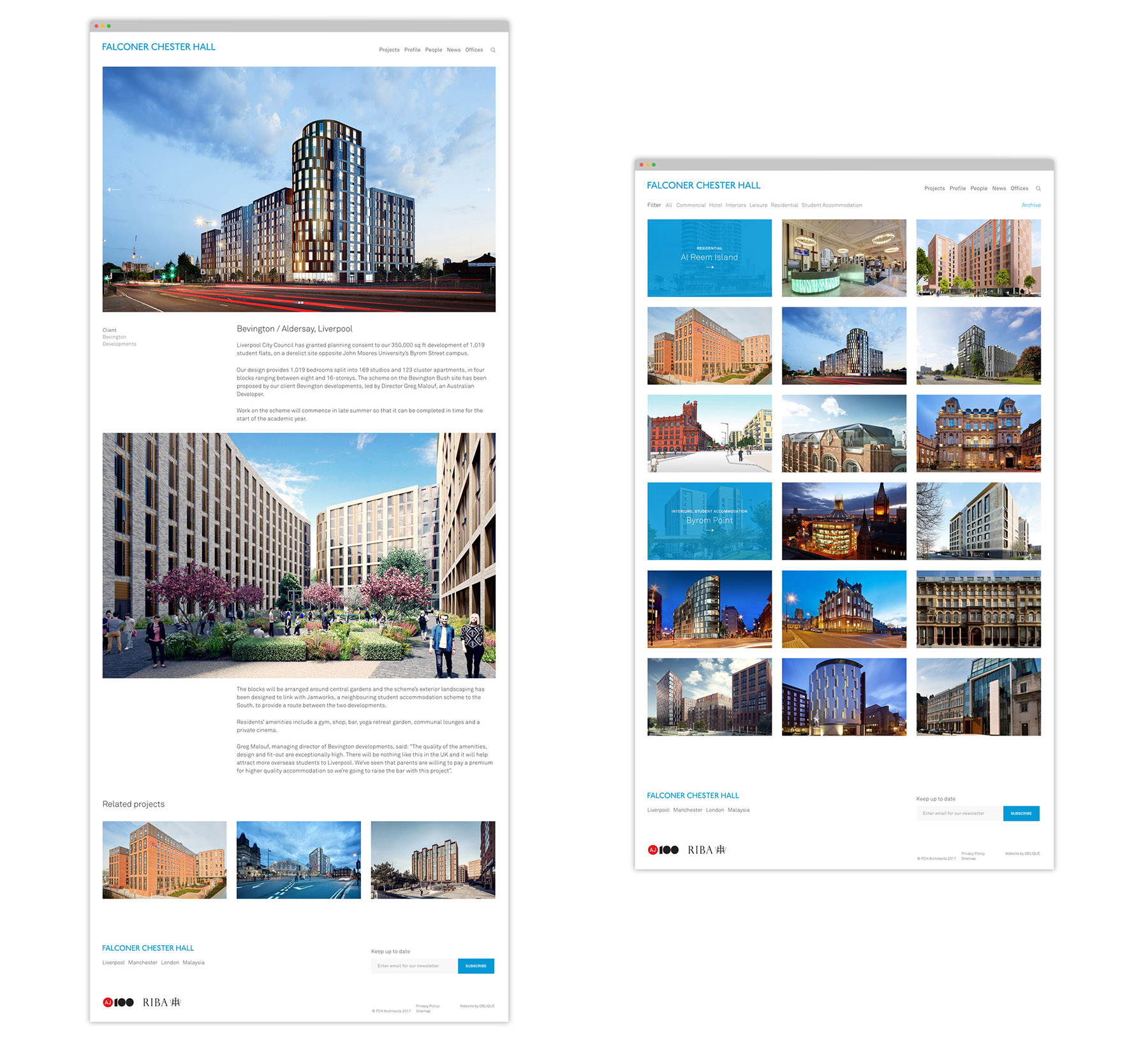 falconer chester hall website design by Leeds based Freelance Designer Neil Holroyd