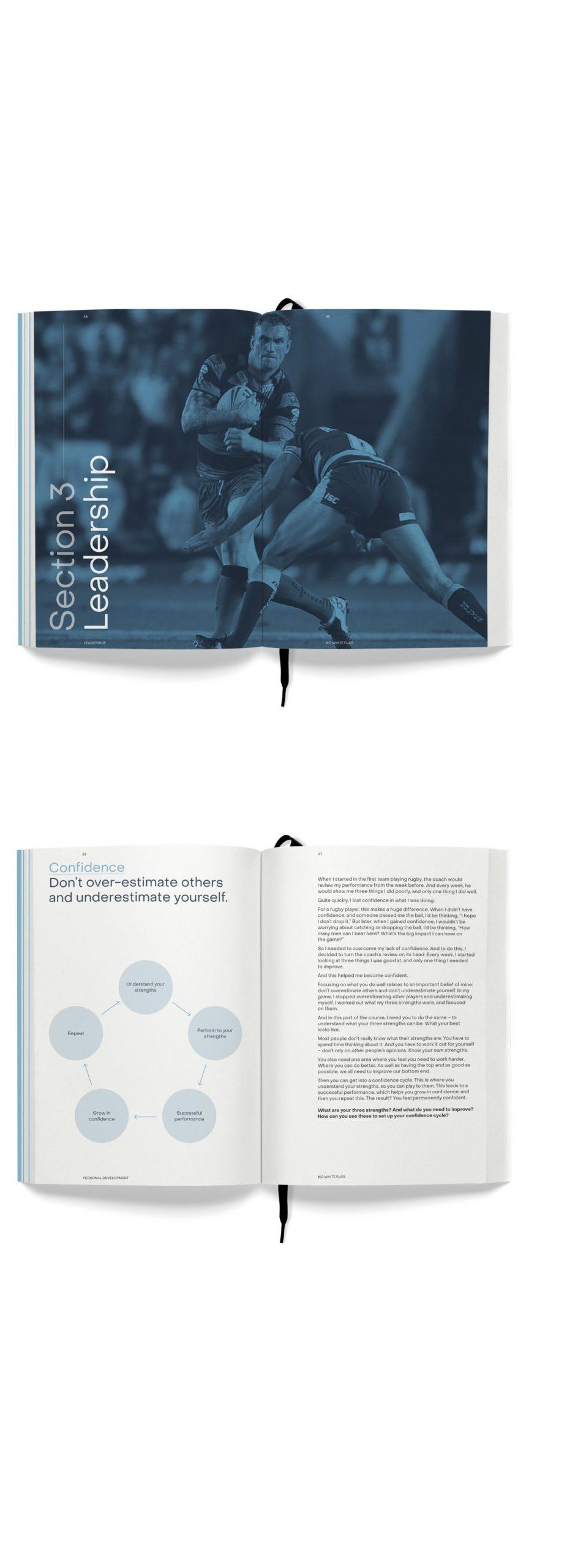 Jamie Peacock Leadership Training Manual design by Leeds based Freelance Designer Neil Holroyd