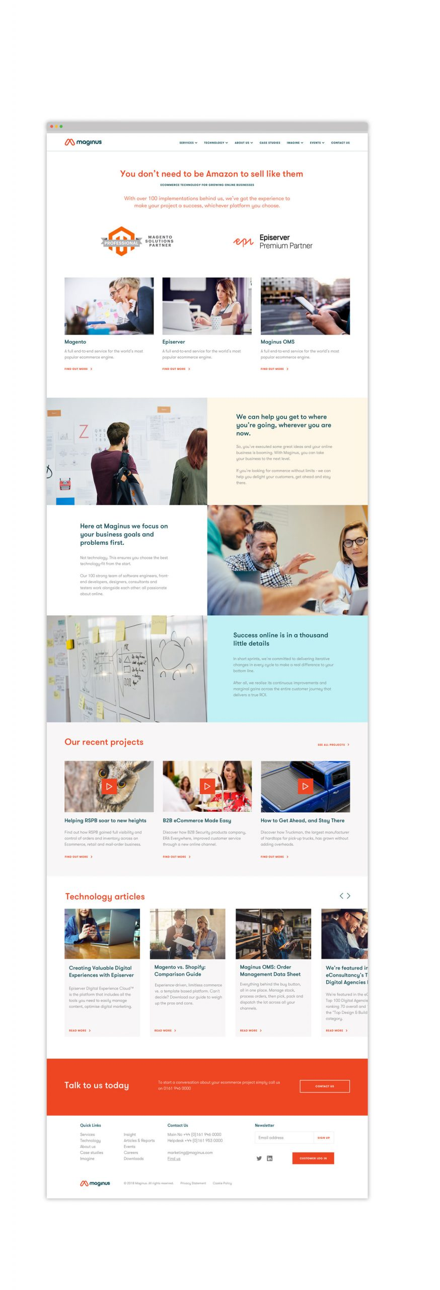 Maginus software Branding and Website Design by Neil Holroyd Leeds based freelance designer
