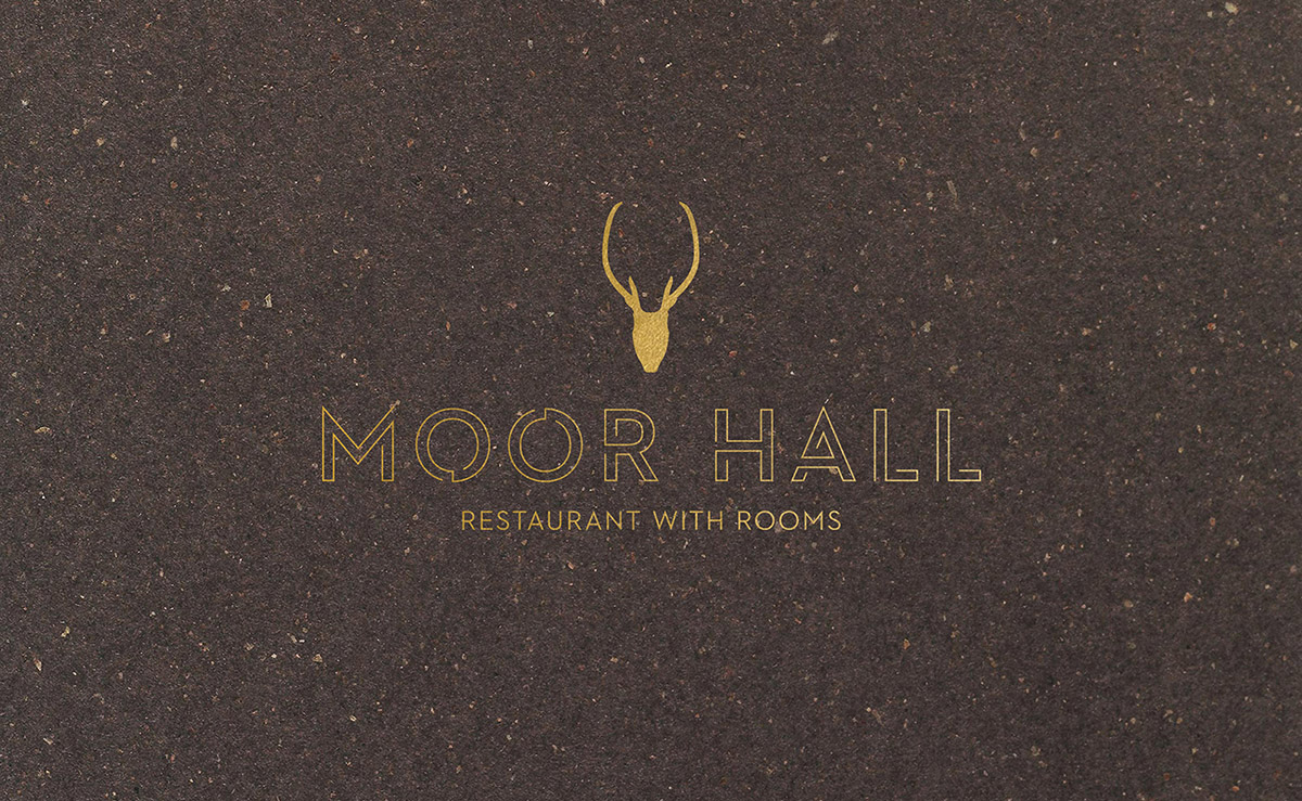 moor hall restaurant branding and menu design by Leeds based Freelance Designer Neil Holroyd