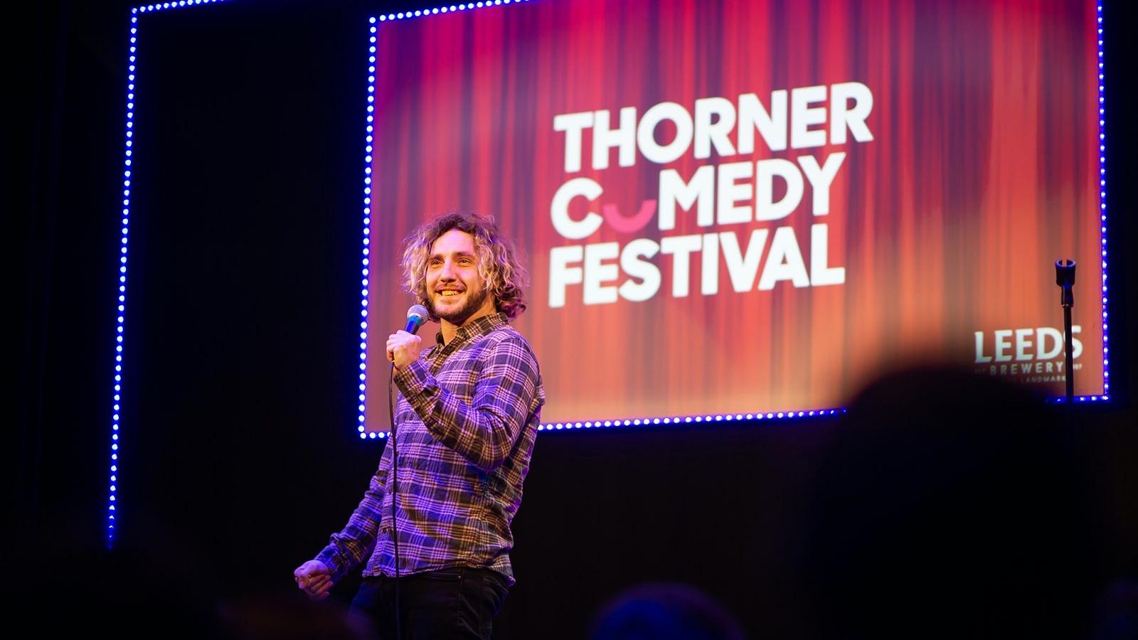 Thorner Comedy Festival Branding – Design by Neil Holroyd Leeds based freelance designer