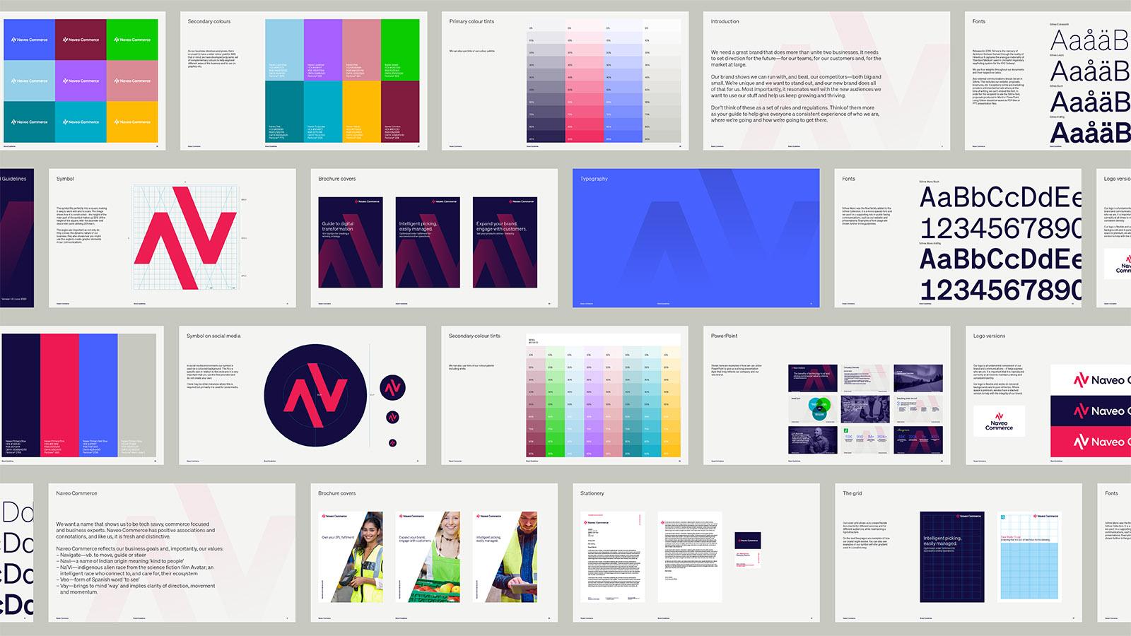 naveo commerce brand guidelines design by Leeds based Freelance Designer Neil Holroyd