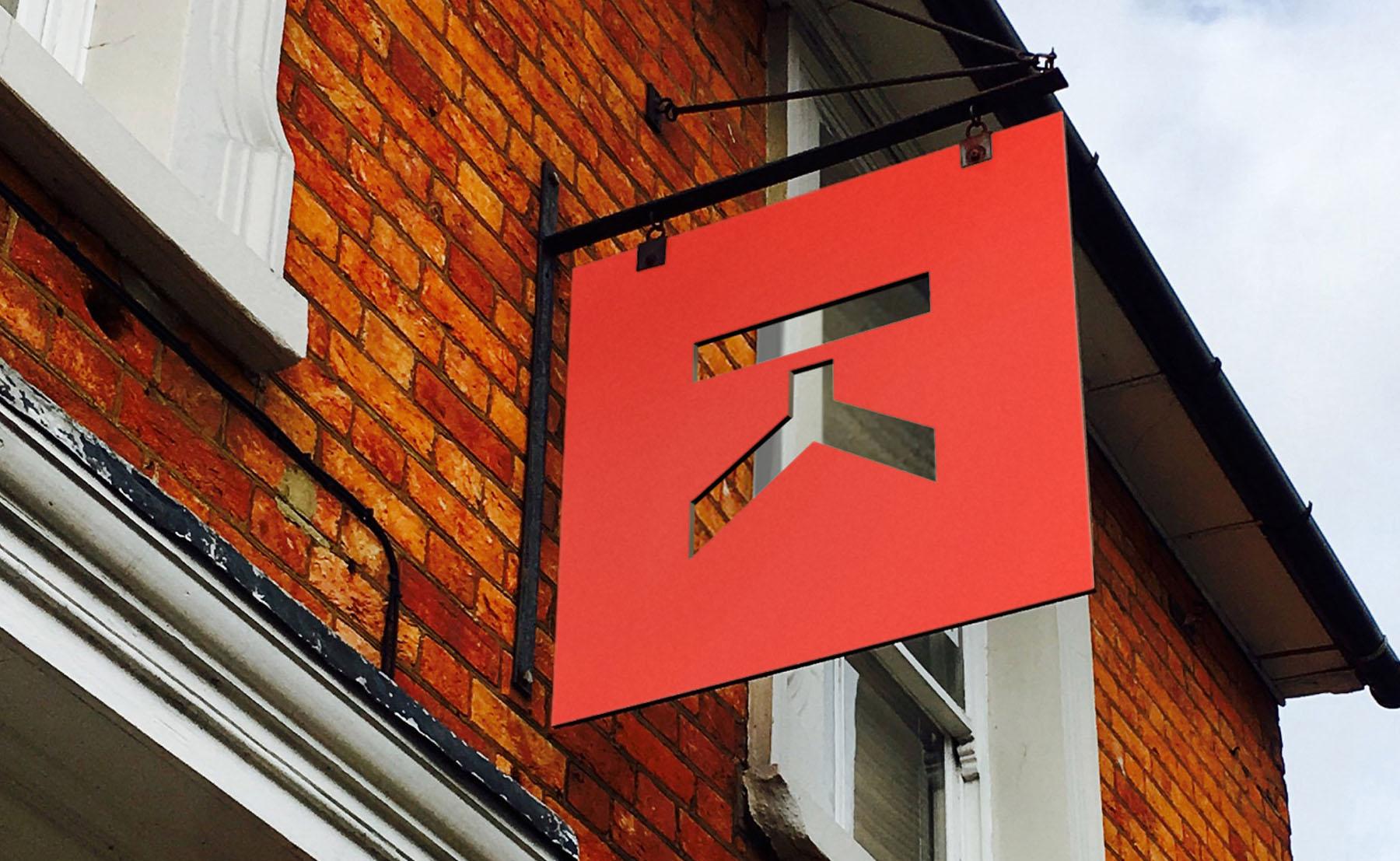 benchmark architects signage by Leeds based Freelance Designer Neil Holroyd