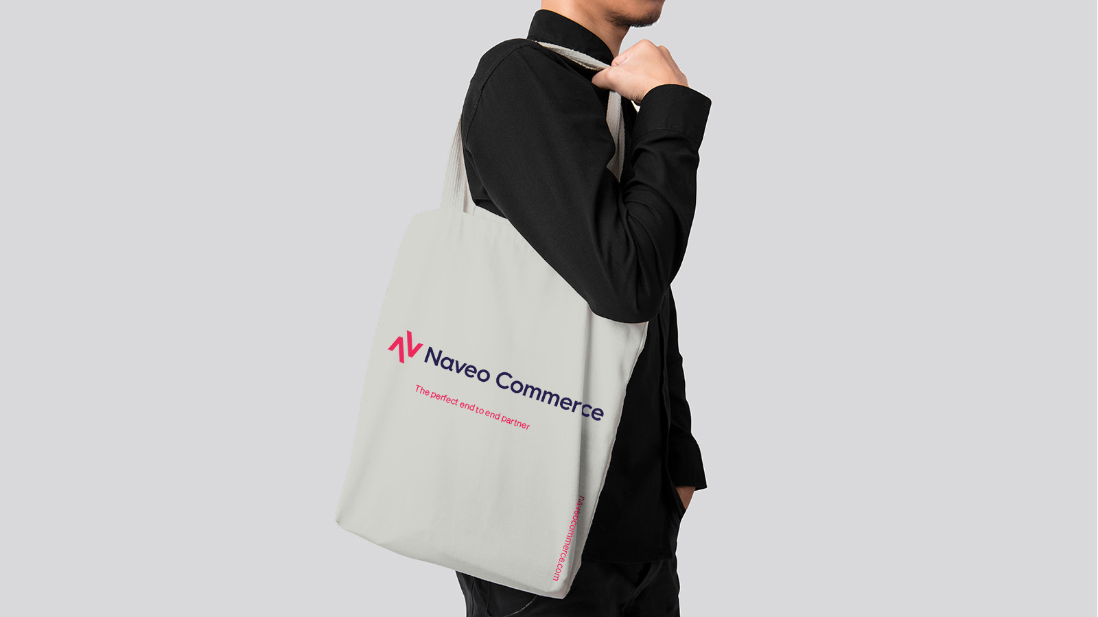 naveo commerce tote bag design by Leeds based Freelance Designer Neil Holroyd
